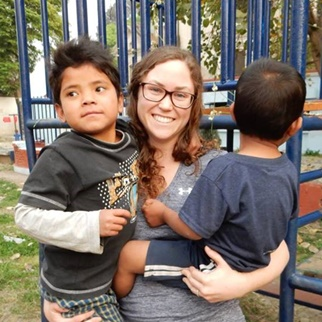 Karley while volunteering in Nepal