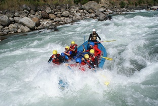 river rafting at Nepal