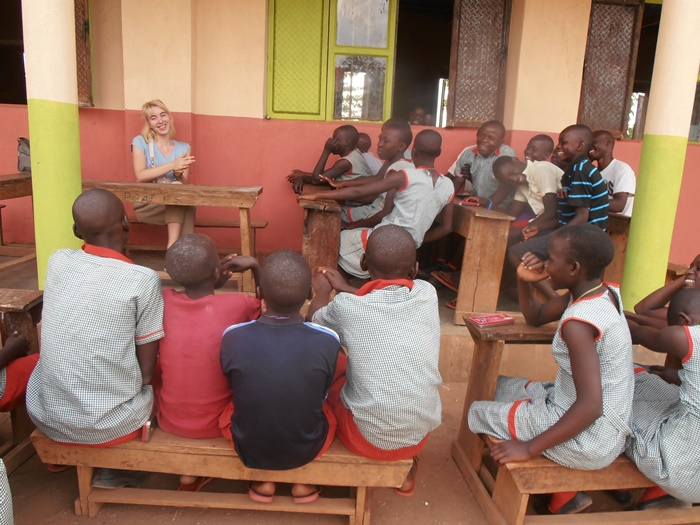 teaching volunteer in Uganda