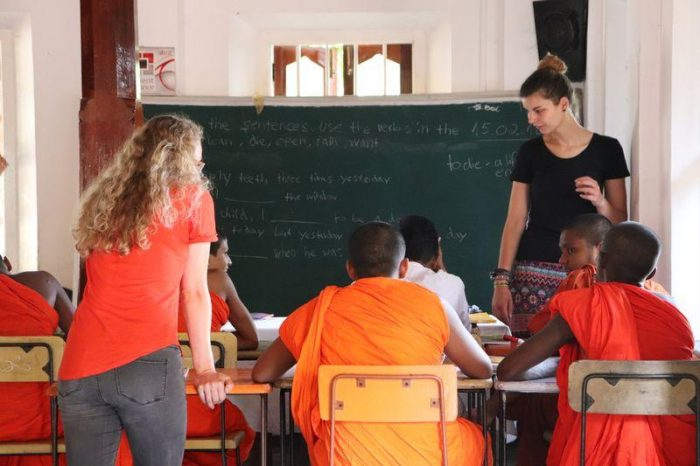 Teaching Buddhist Monks