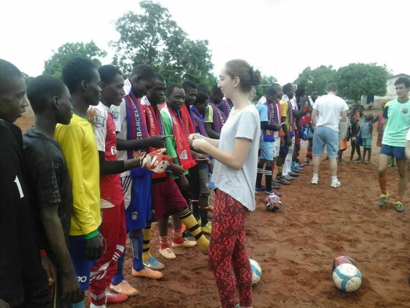 football coaching volunteer work Ghana