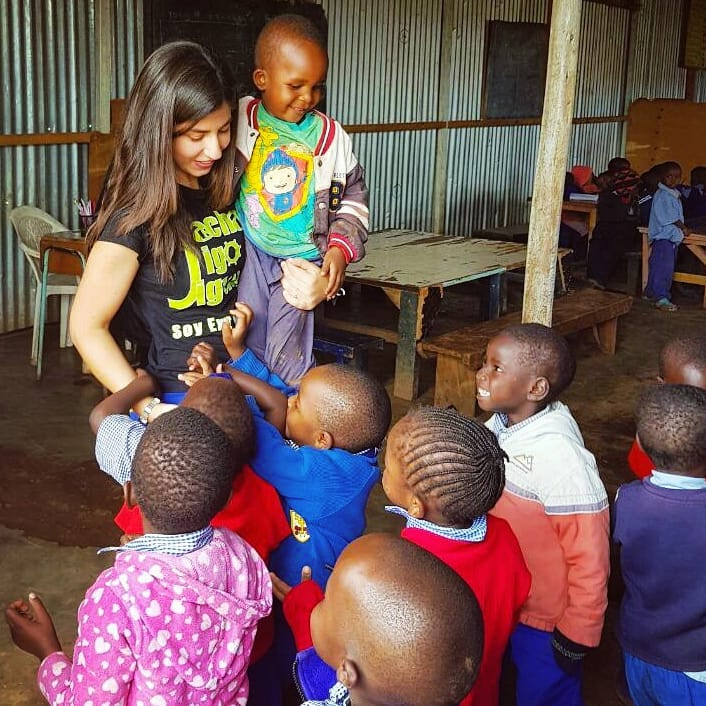 taking care of toddlers at an orphanage while volunteering