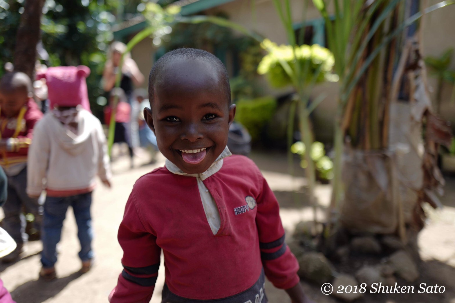 smiling kid in Kenya