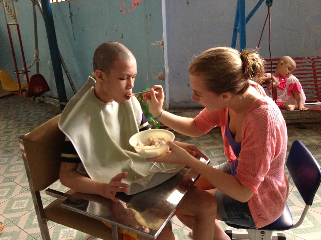 Disabled care in Vietnam with Volunteering solutions