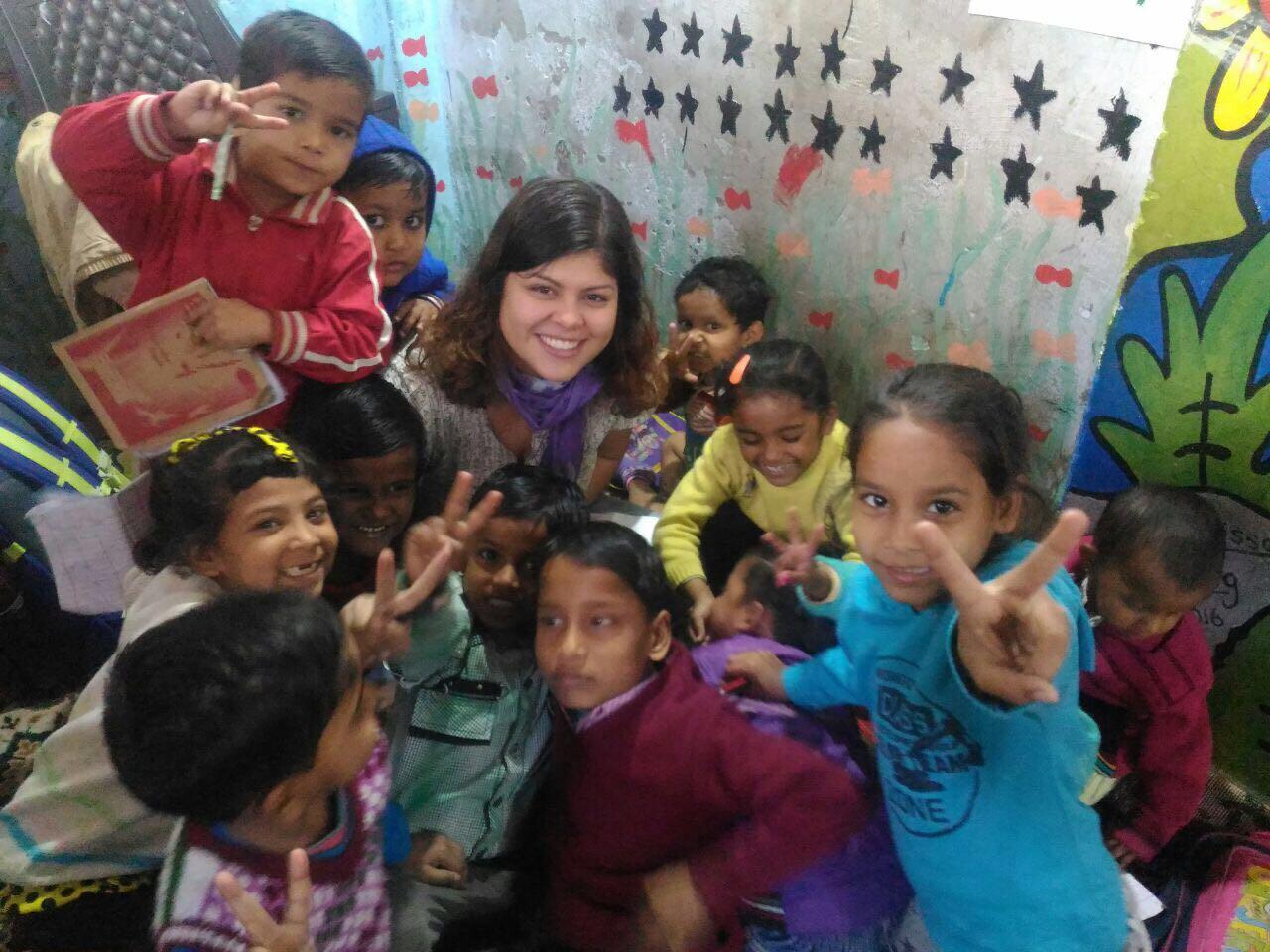 street children volunteer project in India