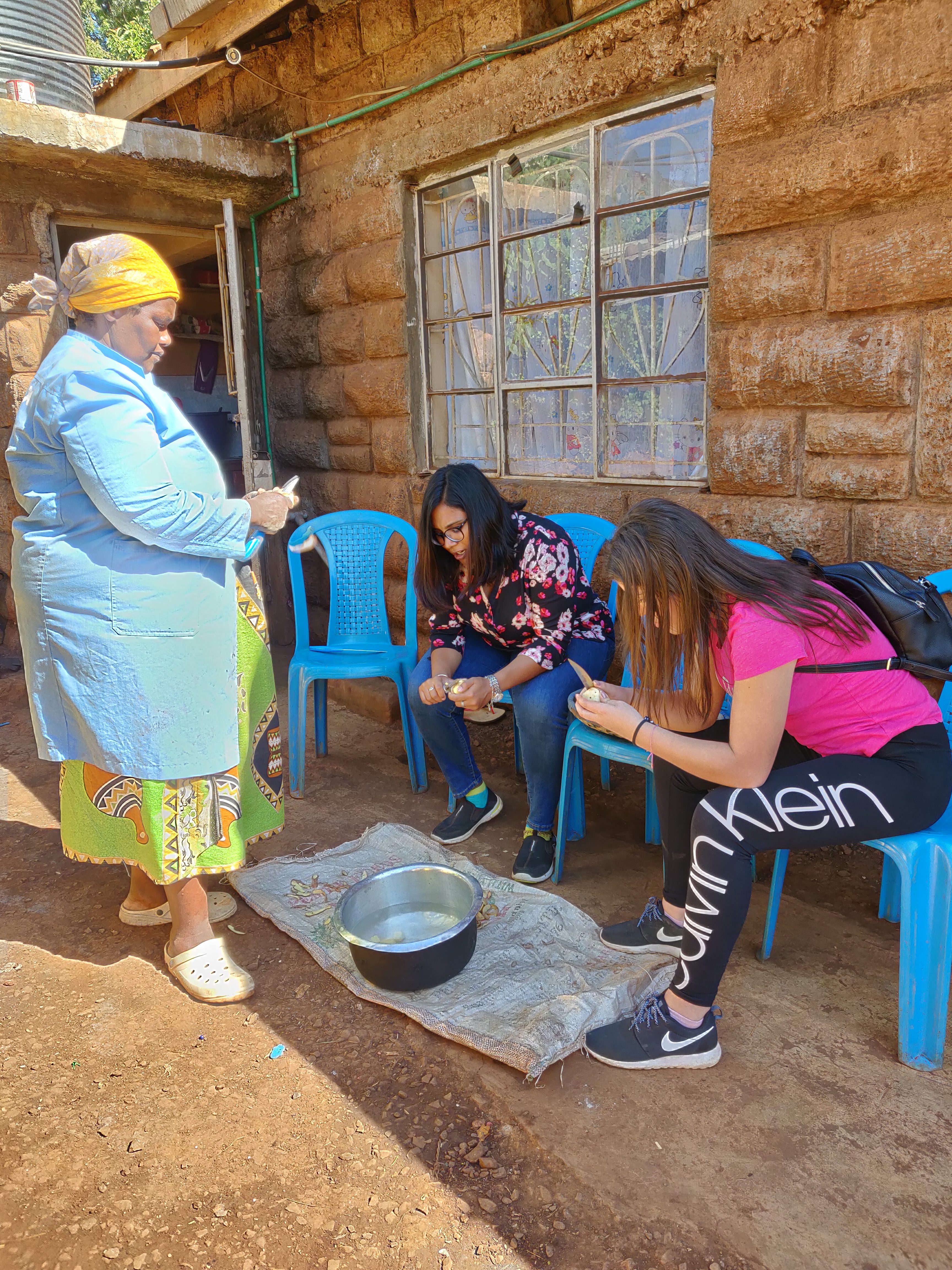 helping in the kitchen in kenya