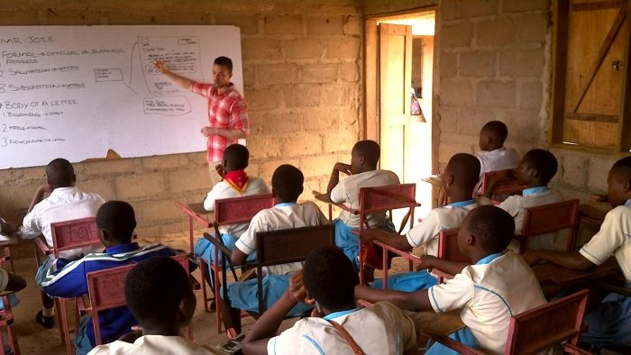 teaching volunteer in Ghana
