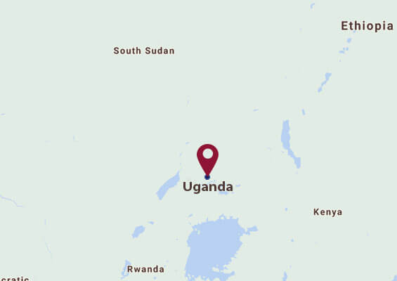 Uganda map